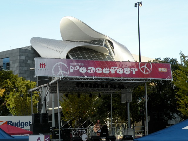 photo of performance at 2012 Peace Day event in Edmonton, Alberta