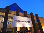 photo of imagine peace banner